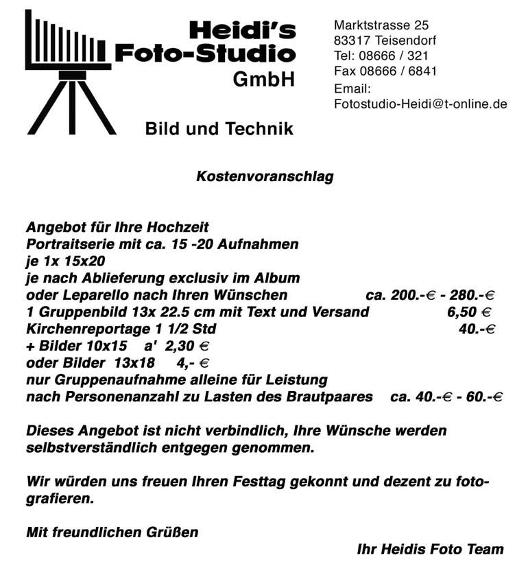 Willkommen Bei Fotostudio Heidi
